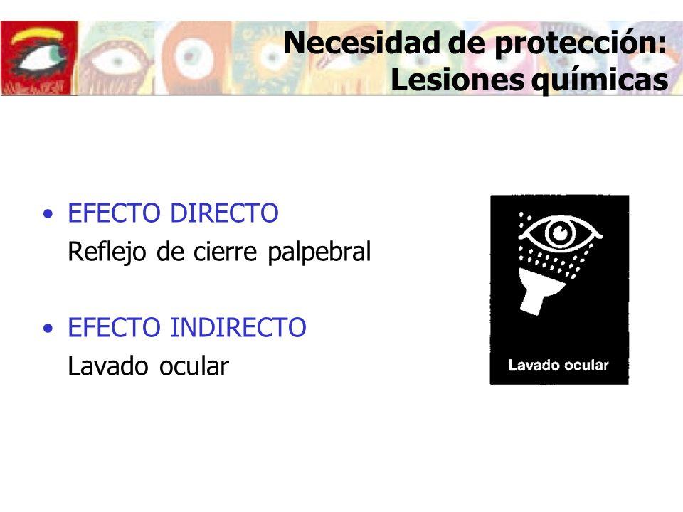 Necesidad de protección: Lesiones químicas