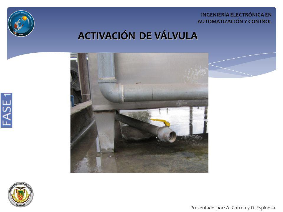 ACTIVACIÓN DE VÁLVULA INGENIERÍA ELECTRÓNICA EN