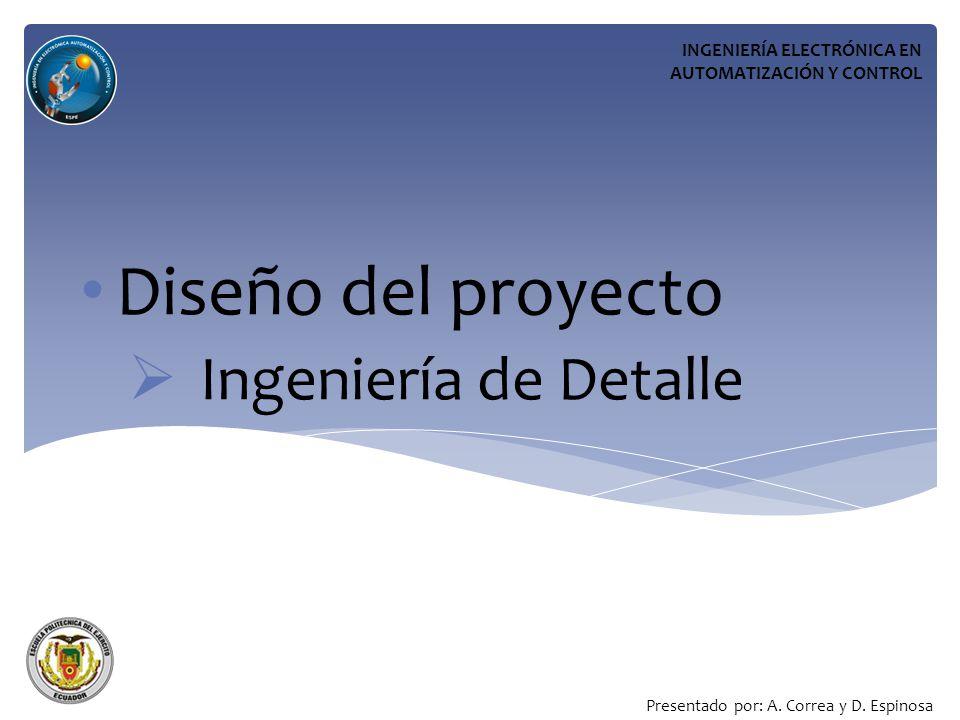 Diseño del proyecto Ingeniería de Detalle INGENIERÍA ELECTRÓNICA EN