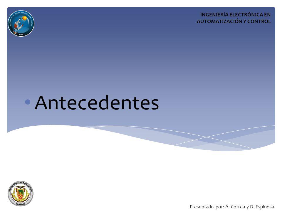 Antecedentes INGENIERÍA ELECTRÓNICA EN AUTOMATIZACIÓN Y CONTROL