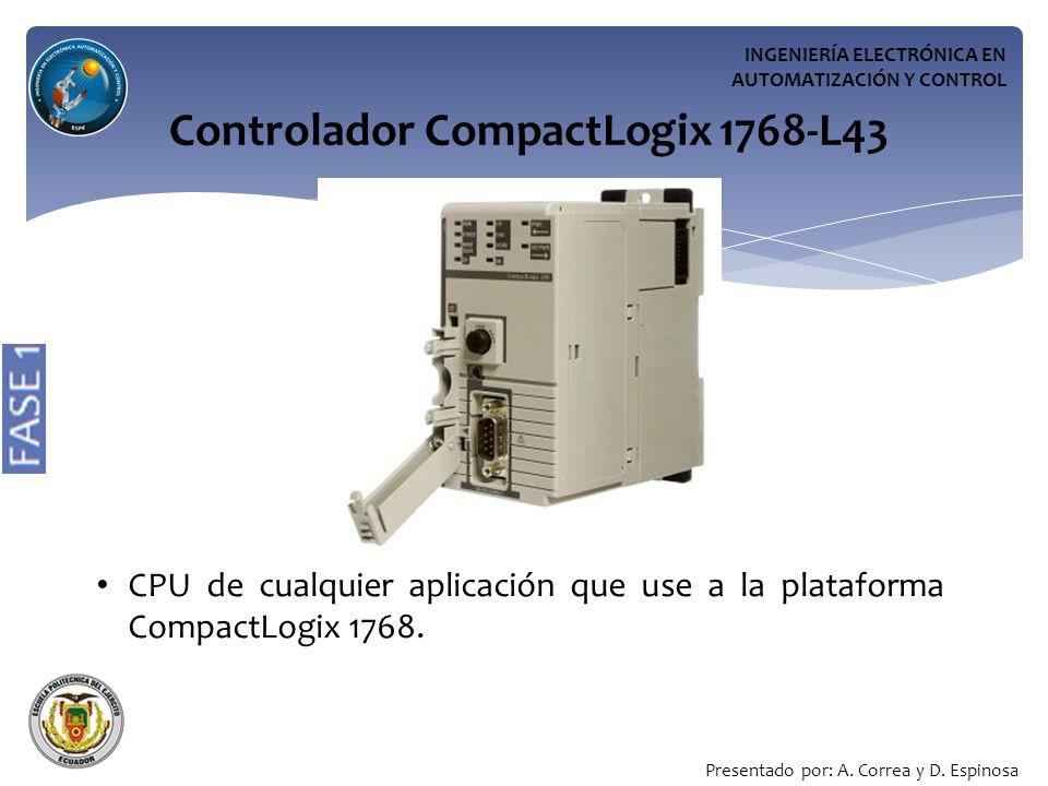 Controlador CompactLogix 1768-L43