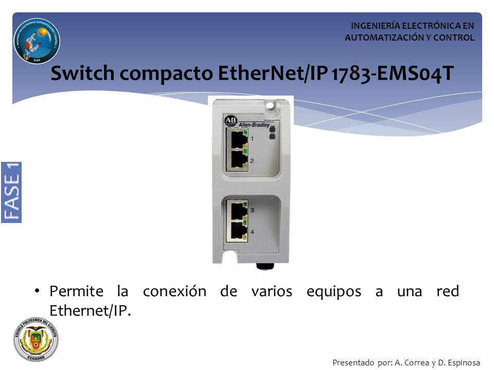 Switch compacto EtherNet/IP 1783-EMS04T