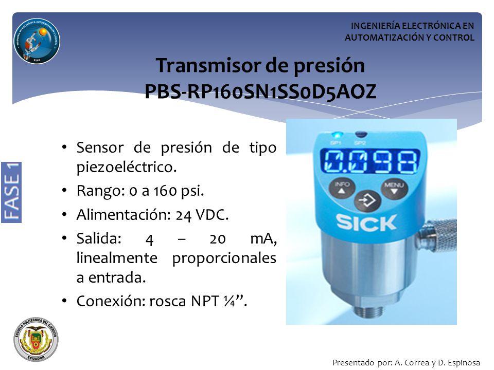 Transmisor de presión PBS-RP160SN1SS0D5AOZ
