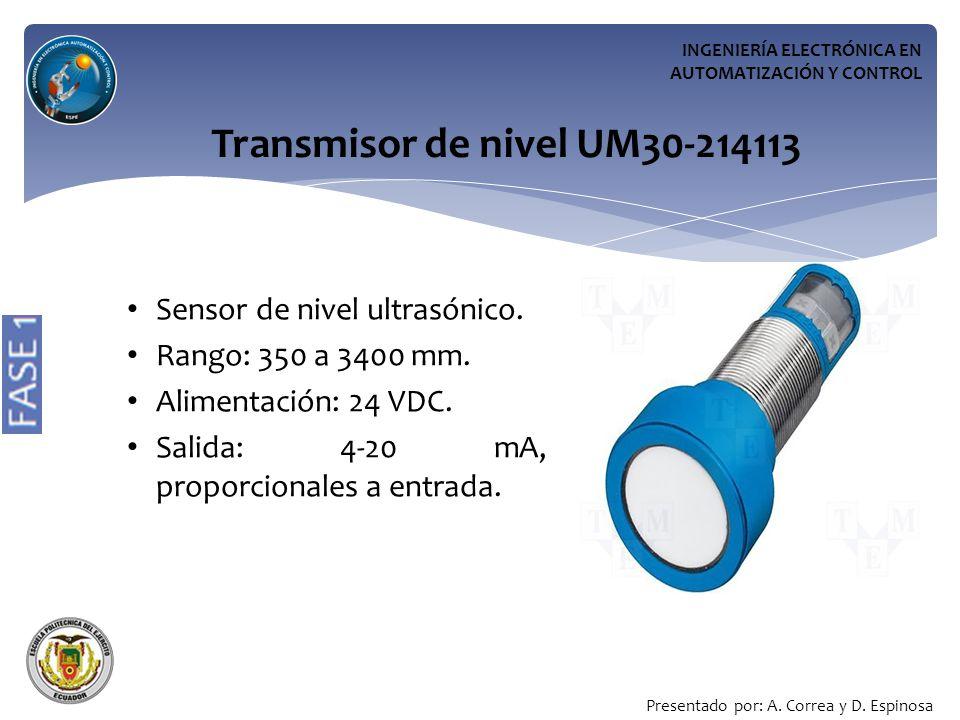 Transmisor de nivel UM30-214113