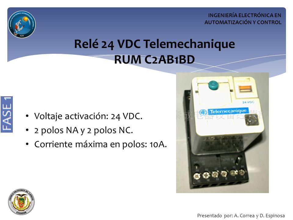 Relé 24 VDC Telemechanique RUM C2AB1BD