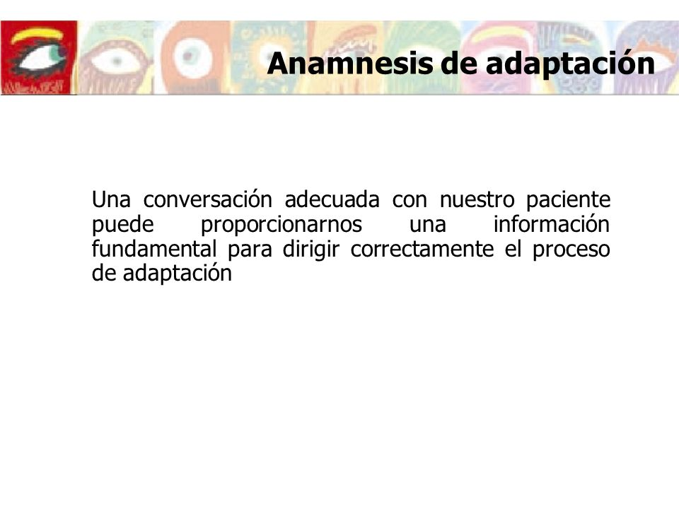 Anamnesis de adaptación