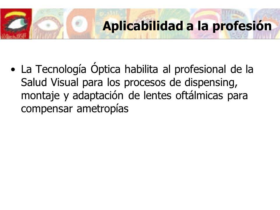 Aplicabilidad a la profesión