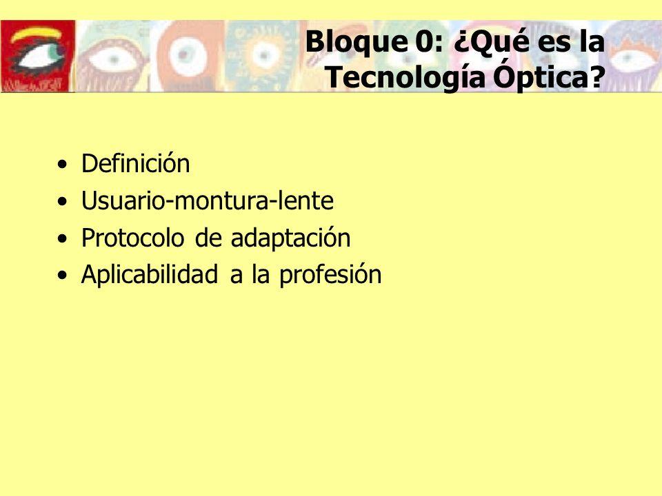 Bloque 0: ¿Qué es la Tecnología Óptica