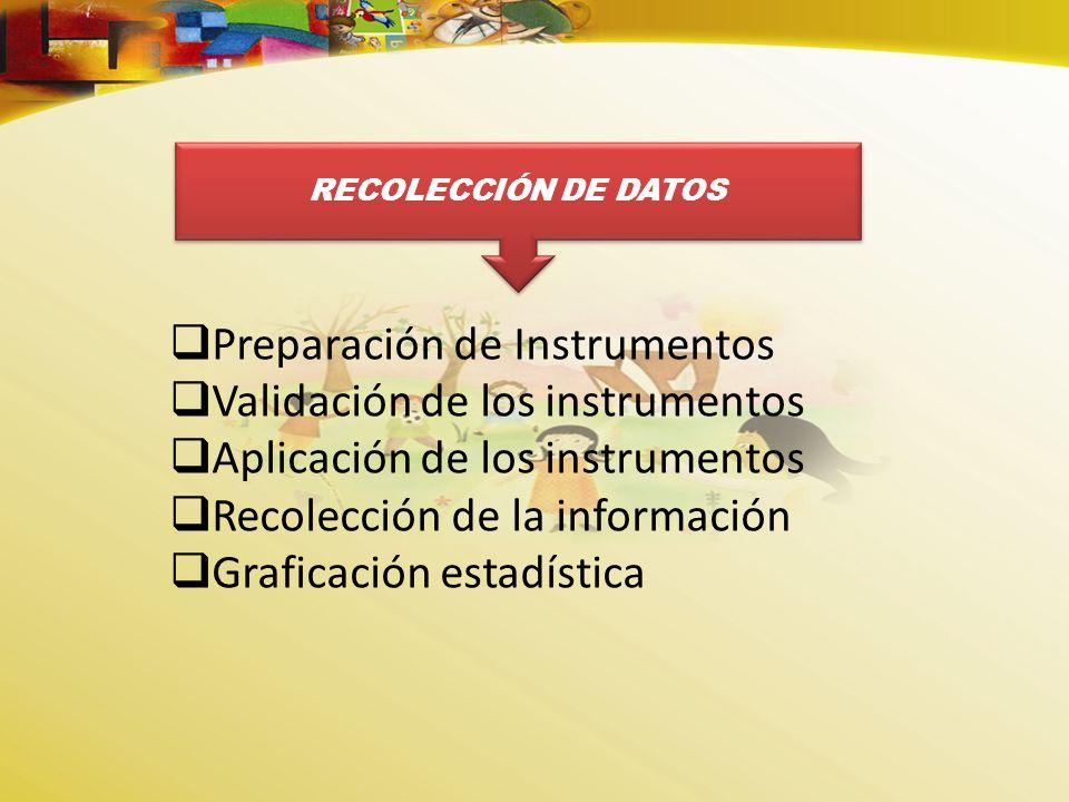 Preparación de Instrumentos Validación de los instrumentos