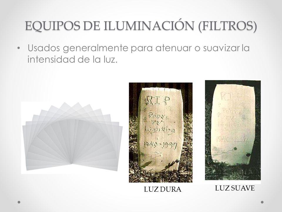 EQUIPOS DE ILUMINACIÓN (FILTROS)