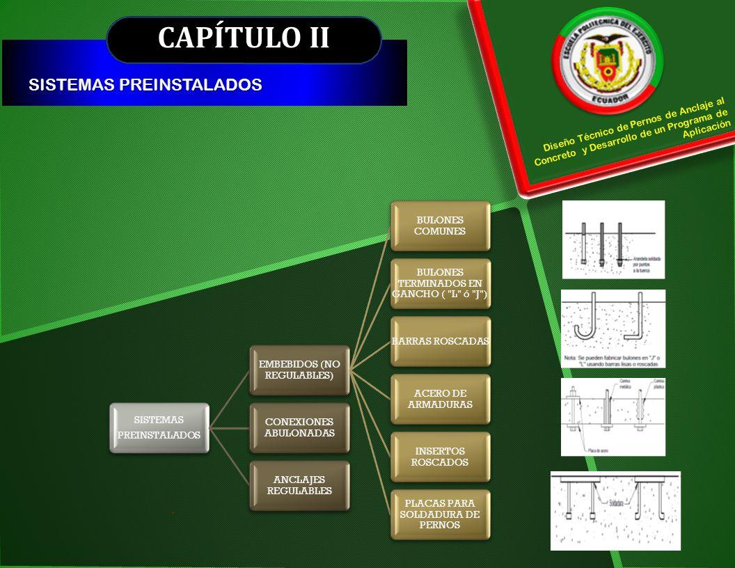 CAPÍTULO II SISTEMAS PREINSTALADOS
