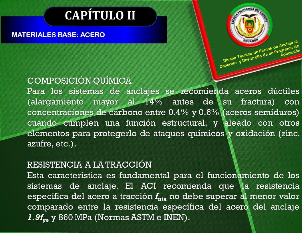 CAPÍTULO II COMPOSICIÓN QUÍMICA