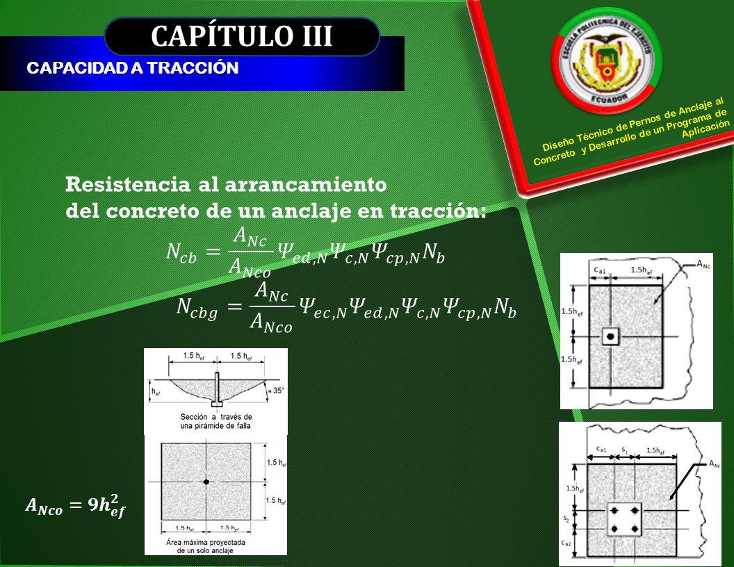 CAPÍTULO III Resistencia al arrancamiento