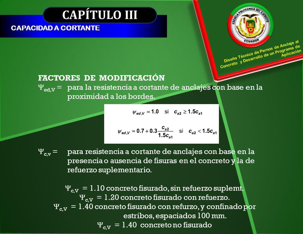 CAPÍTULO III FACTORES DE MODIFICACIÓN