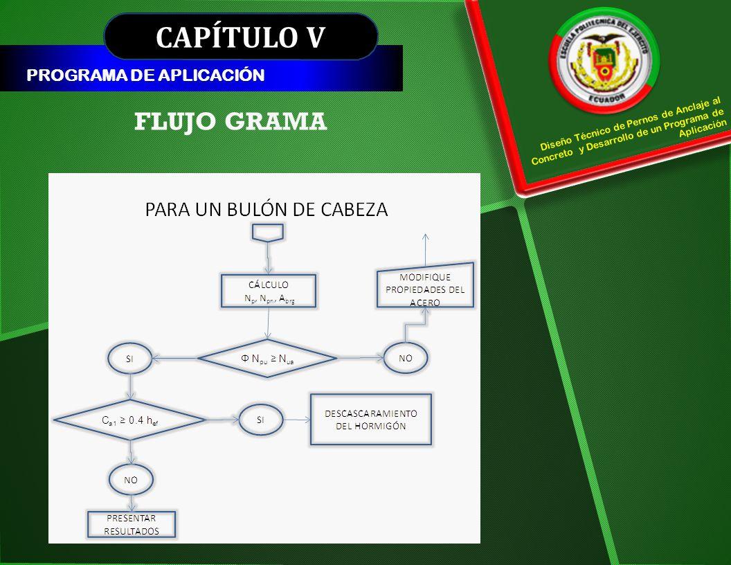 CAPÍTULO V FLUJO GRAMA PROGRAMA DE APLICACIÓN