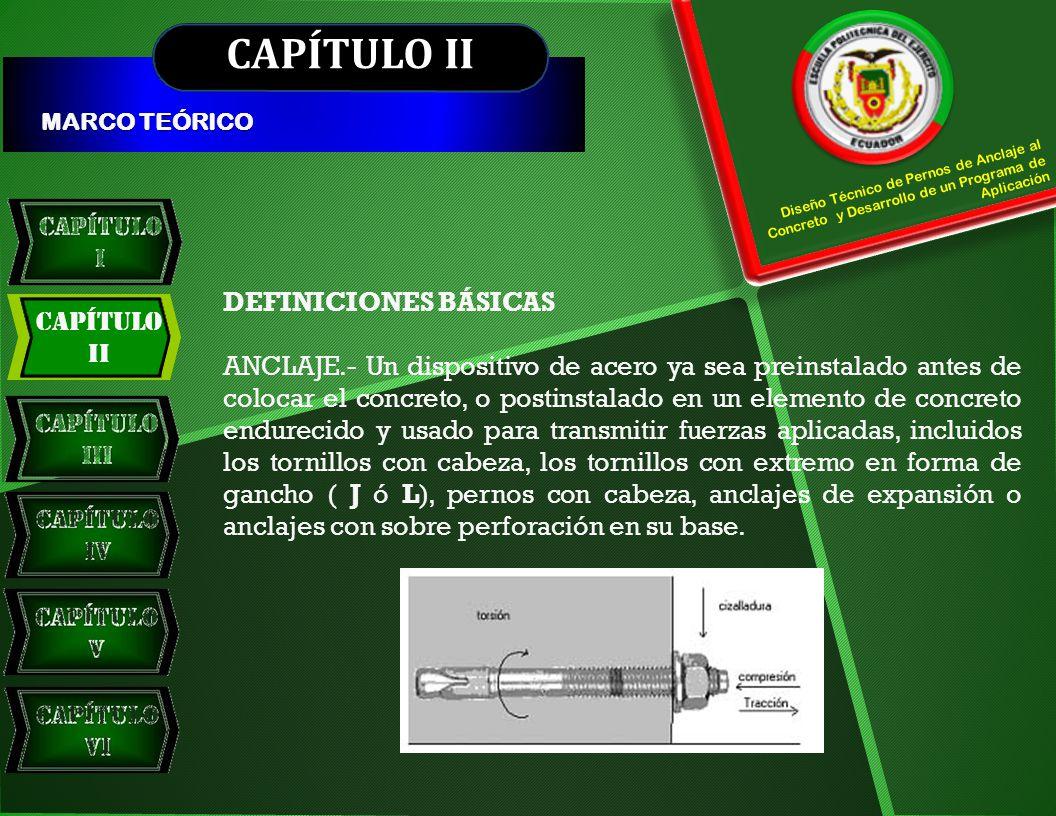CAPÍTULO II DEFINICIONES BÁSICAS Capítulo II