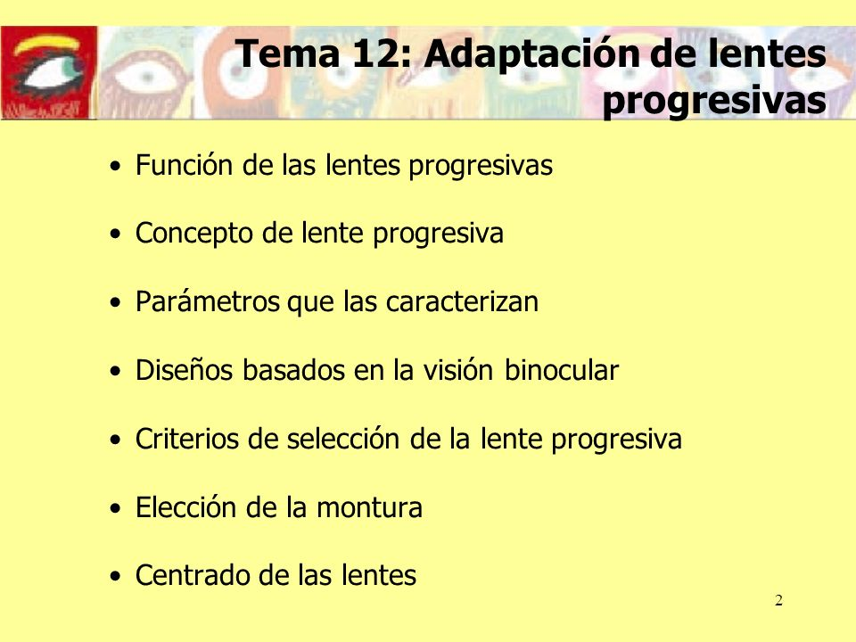 Tema 12: Adaptación de lentes progresivas