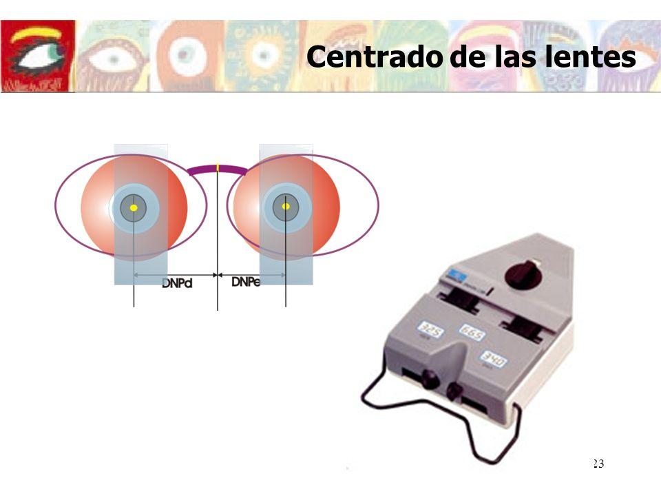 Centrado de las lentes