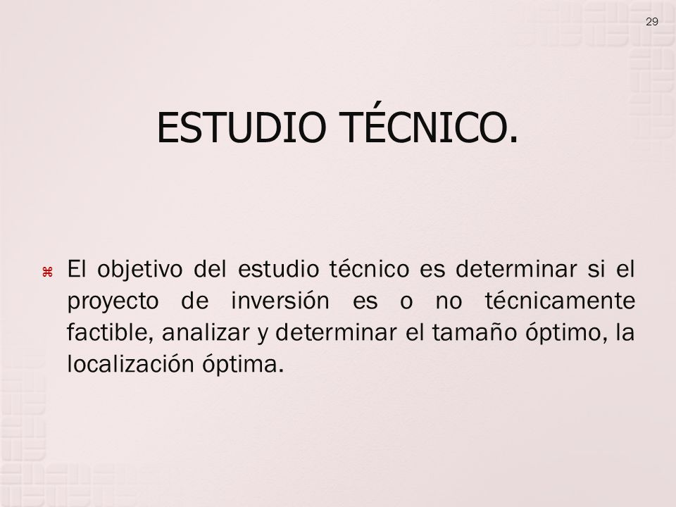 ESTUDIO TÉCNICO.