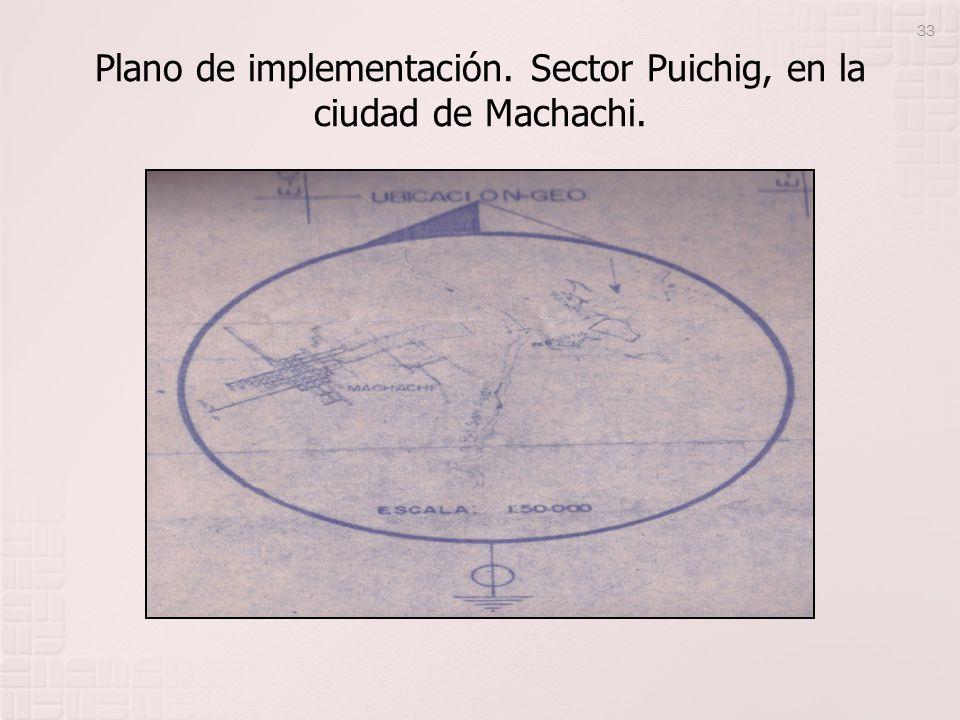 Plano de implementación. Sector Puichig, en la ciudad de Machachi.