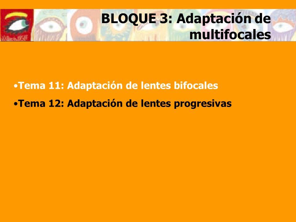 BLOQUE 3: Adaptación de multifocales