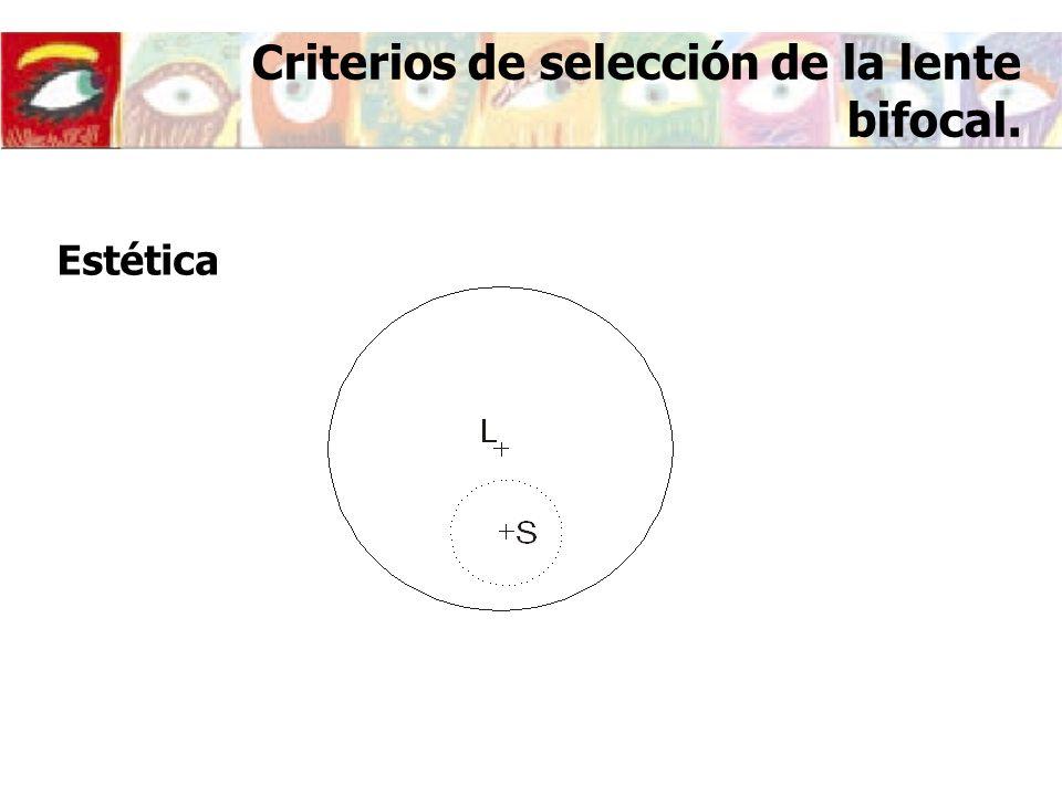 Criterios de selección de la lente bifocal.
