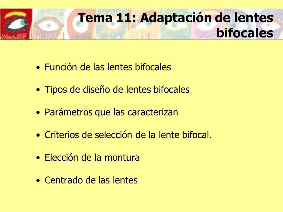 Tema 11: Adaptación de lentes bifocales