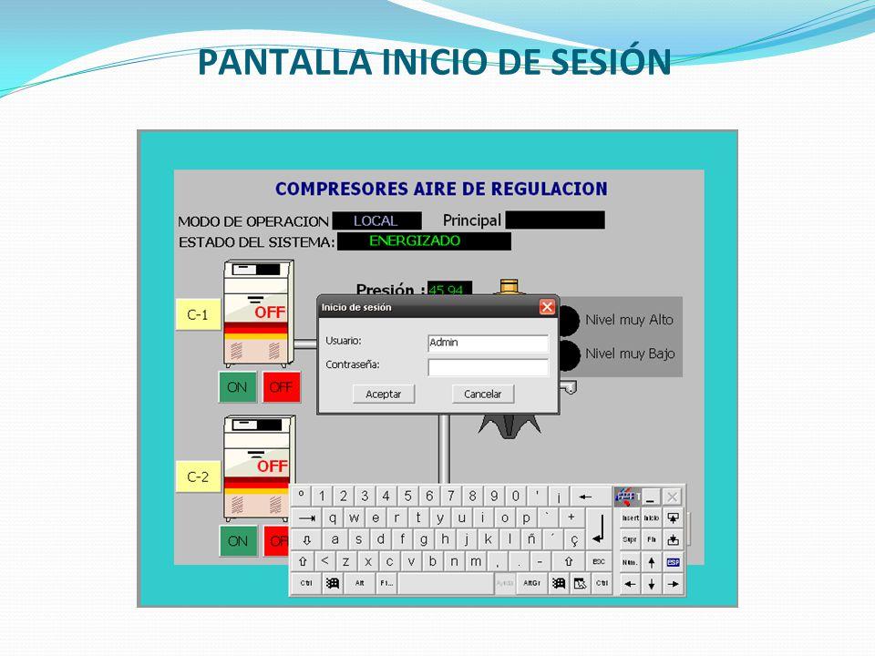 PANTALLA INICIO DE SESIÓN