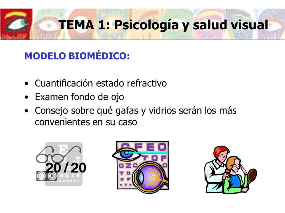 TEMA 1: Psicología y salud visual