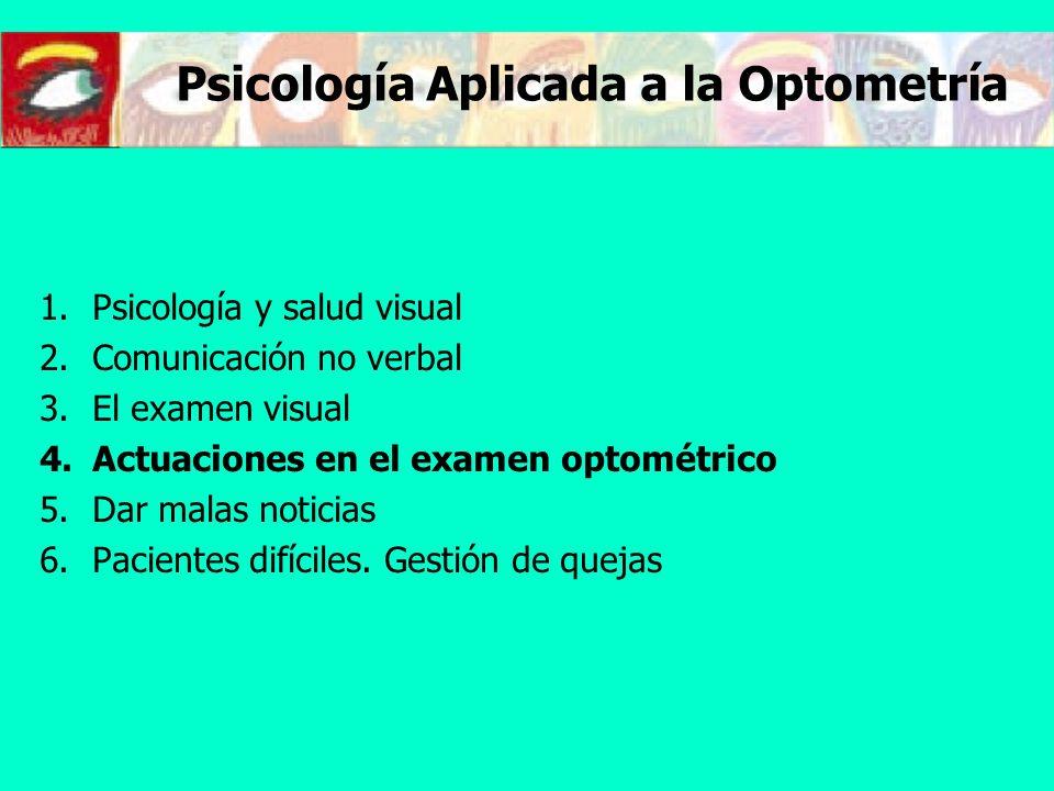 Psicología Aplicada a la Optometría