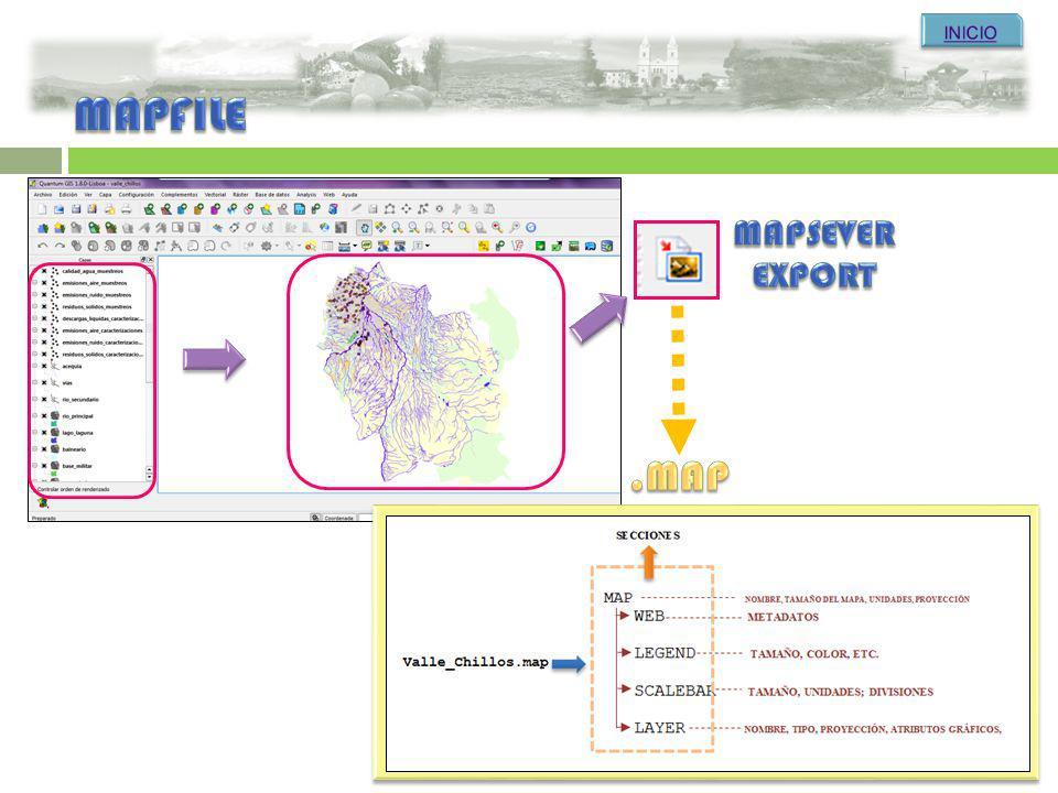 INICIO MAPFILE MAPSEVER EXPORT .MAP
