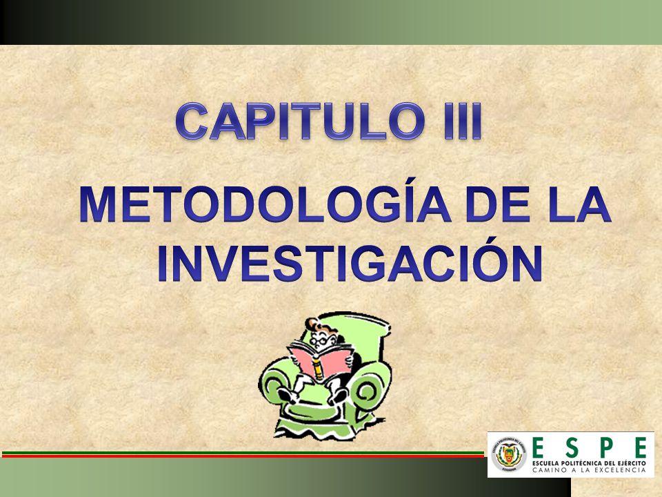 CAPITULO III METODOLOGÍA DE LA INVESTIGACIÓN