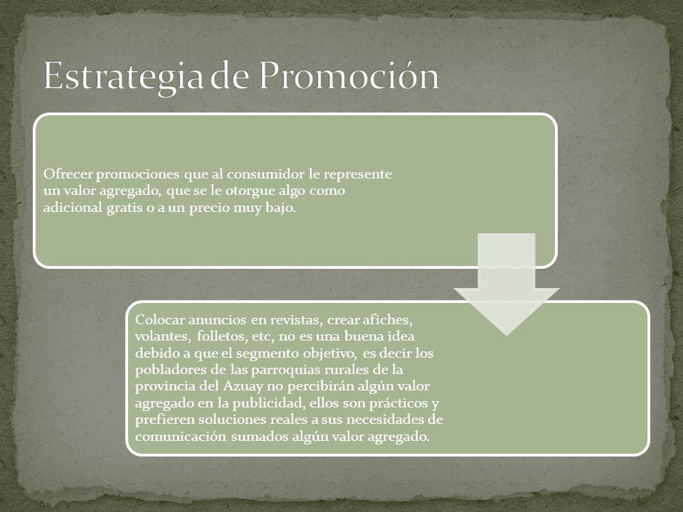 Estrategia de Promoción