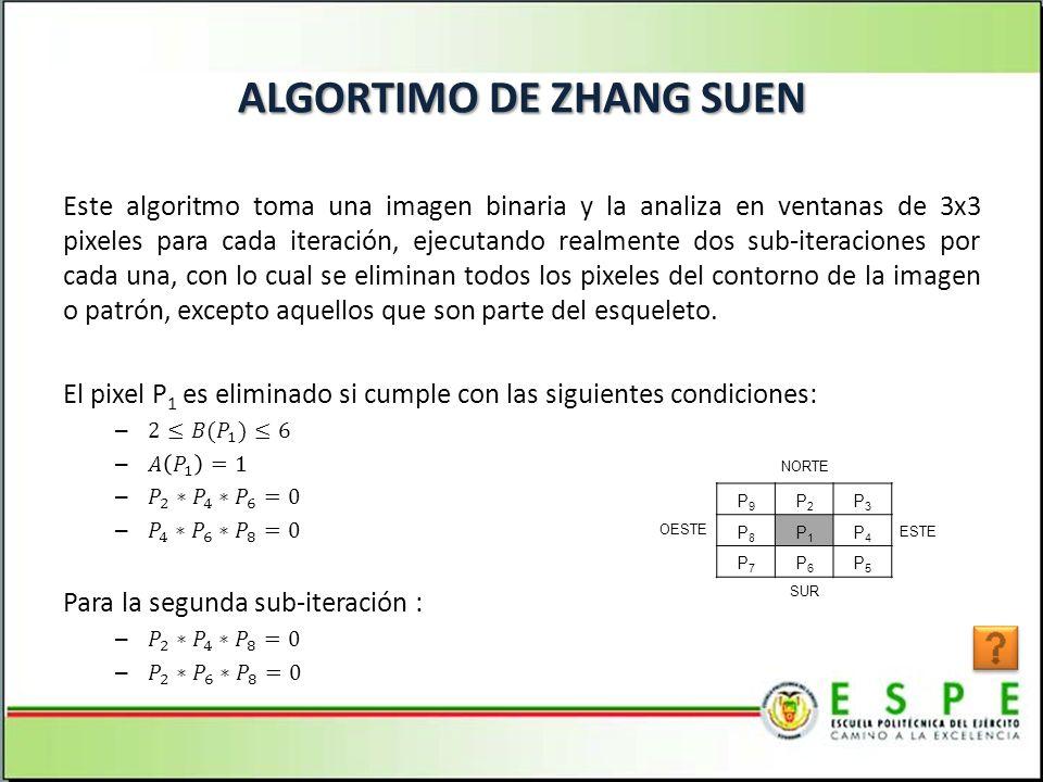 ALGORTIMO DE ZHANG SUEN