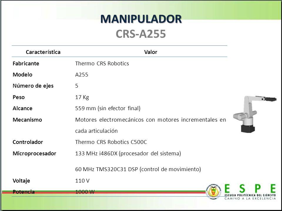 MANIPULADOR CRS-A255 Característica Valor Fabricante