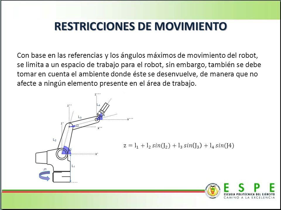 RESTRICCIONES DE MOVIMIENTO