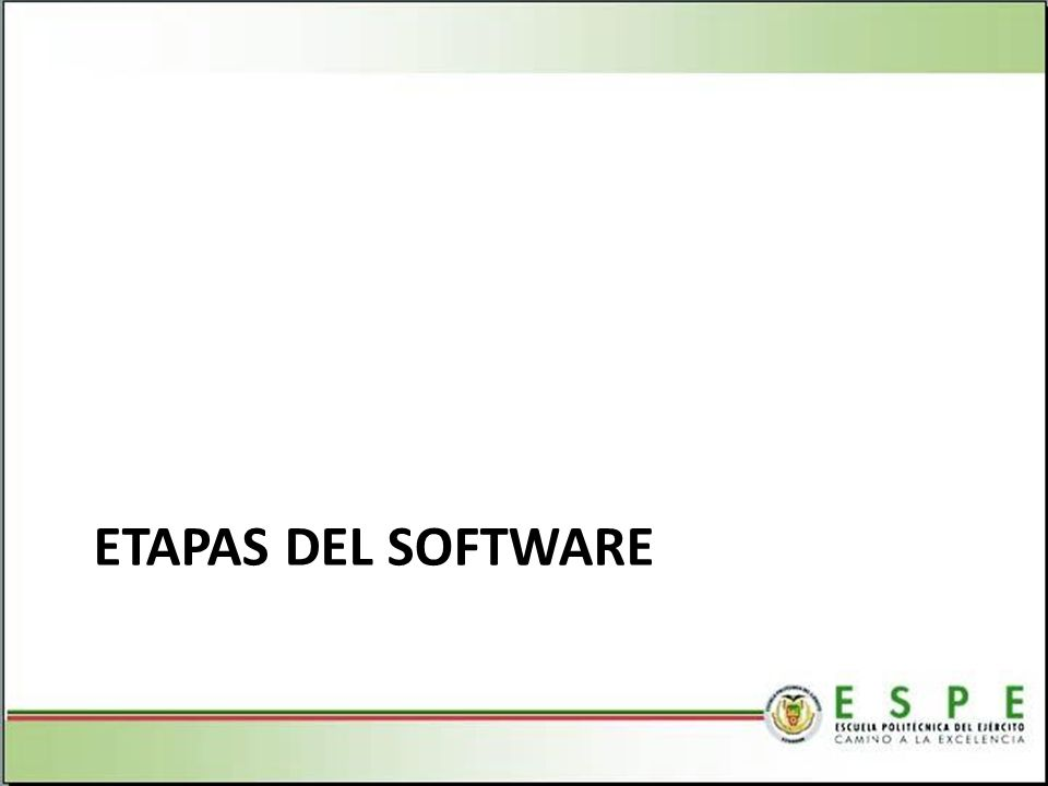 ETAPAS DEL SOFTWARE