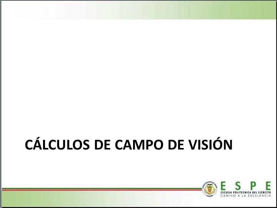 CÁLCULOS DE CAMPO DE VISIÓN