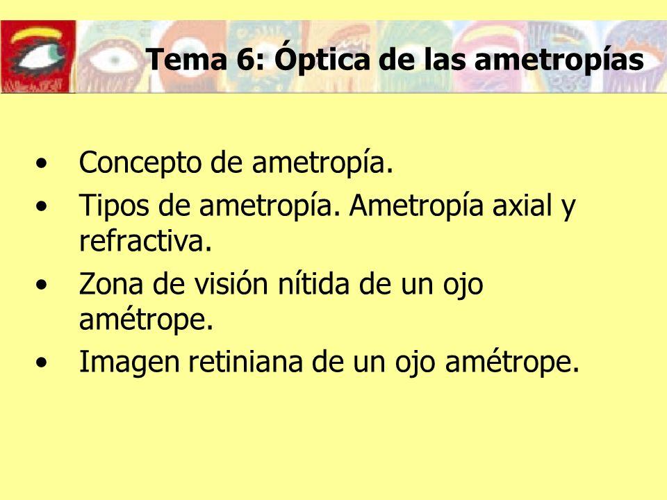 Tema 6: Óptica de las ametropías