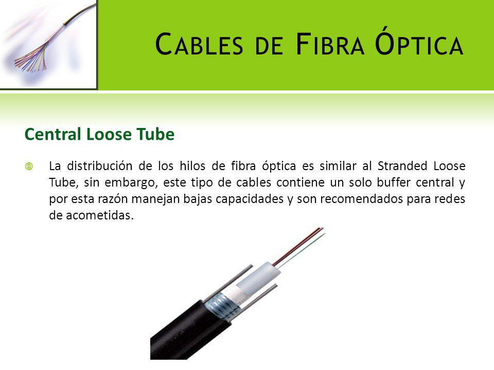 Cables de Fibra Óptica Central Loose Tube