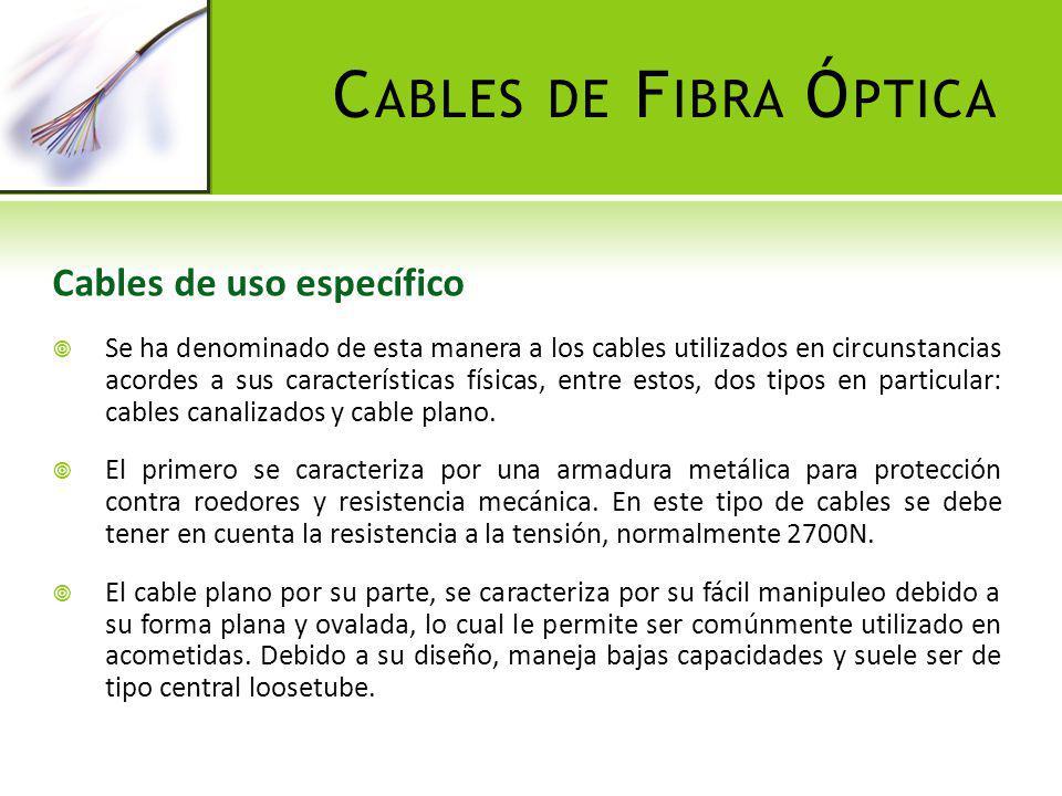 Cables de Fibra Óptica Cables de uso específico