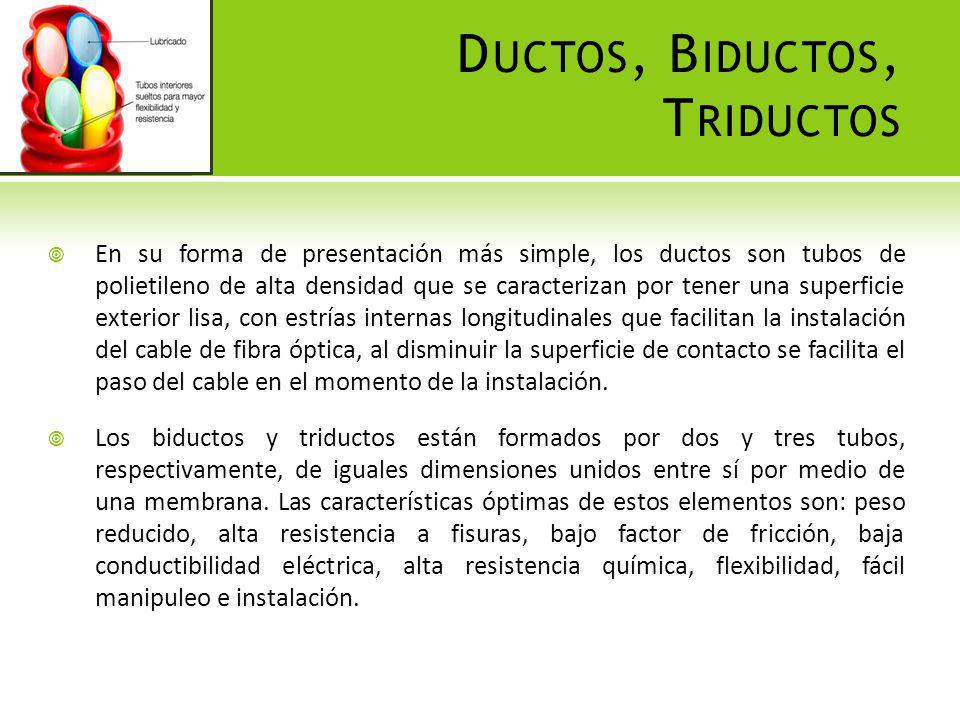 Ductos, Biductos, Triductos