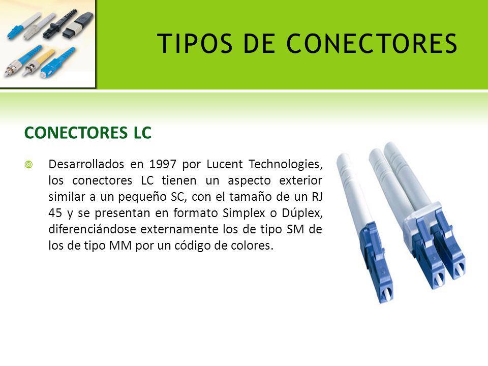 TIPOS DE CONECTORES CONECTORES LC