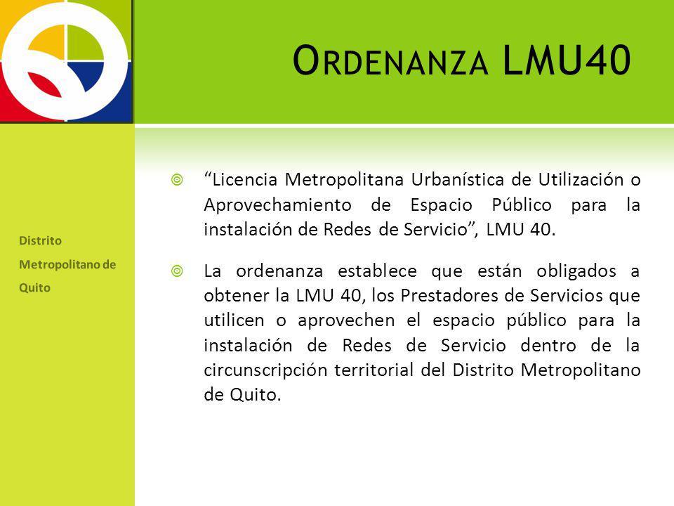 Ordenanza LMU40