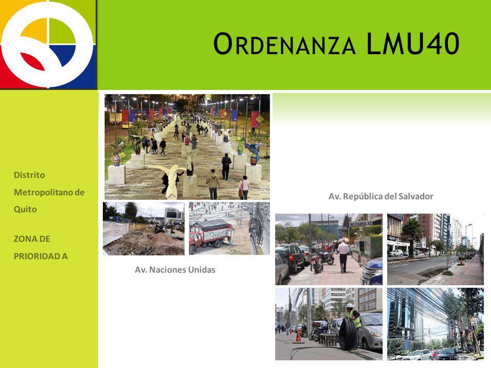 Ordenanza LMU40 Distrito Metropolitano de Quito
