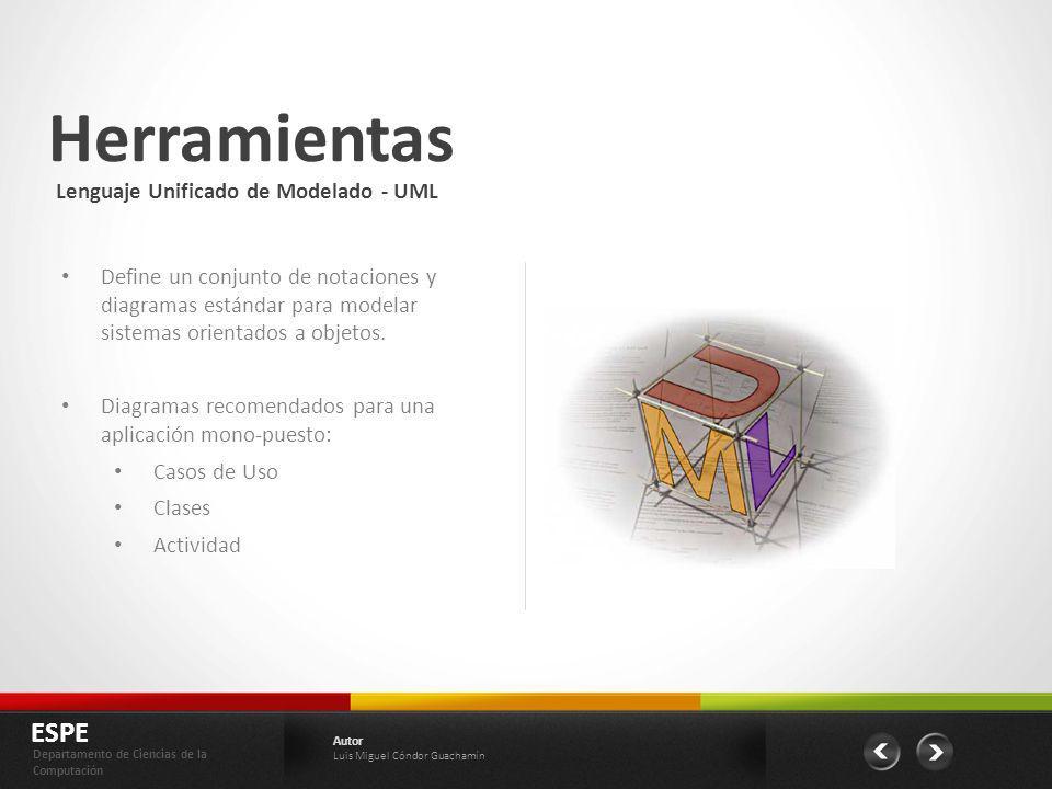 Herramientas ESPE Lenguaje Unificado de Modelado - UML