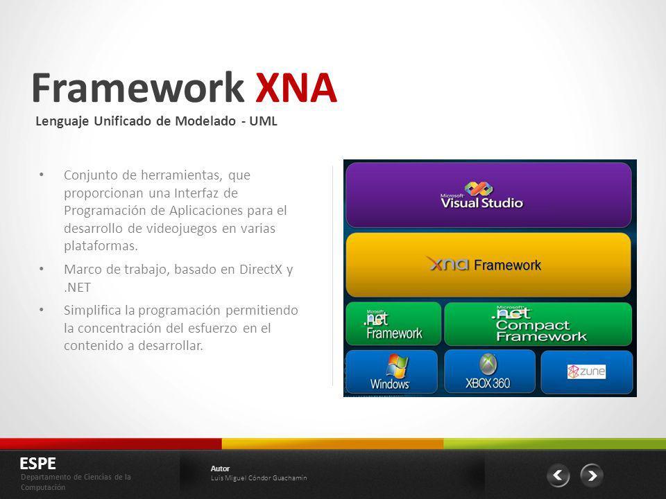 Framework XNA ESPE Lenguaje Unificado de Modelado - UML