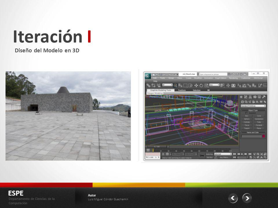 Iteración I ESPE Diseño del Modelo en 3D Autor