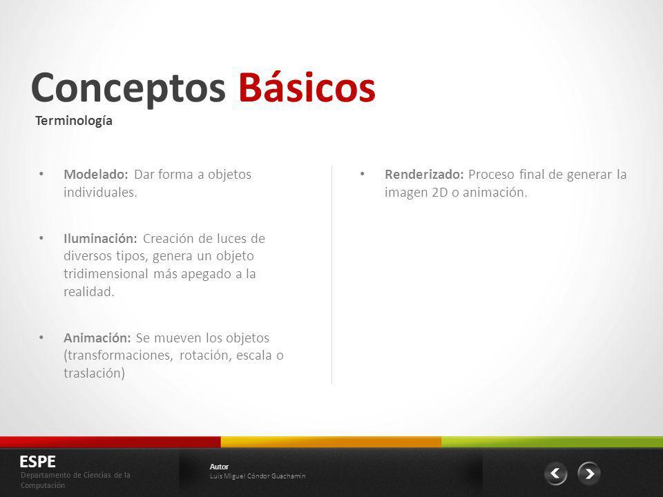 Conceptos Básicos ESPE Terminología