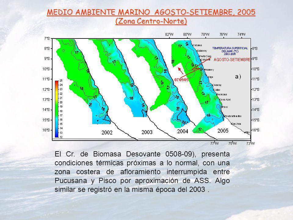 MEDIO AMBIENTE MARINO AGOSTO-SETIEMBRE, 2005